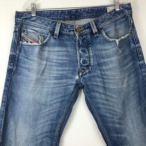 Diesel Larekee Mens Jeans w34 L30 distressed